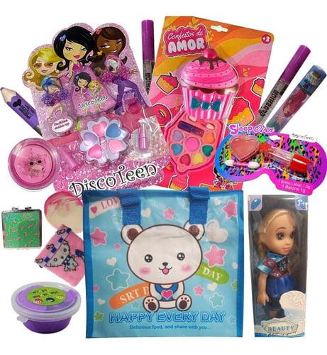 Kit Maquiagem Infantil Batom Sombra Cupcake Boneca De Brinde