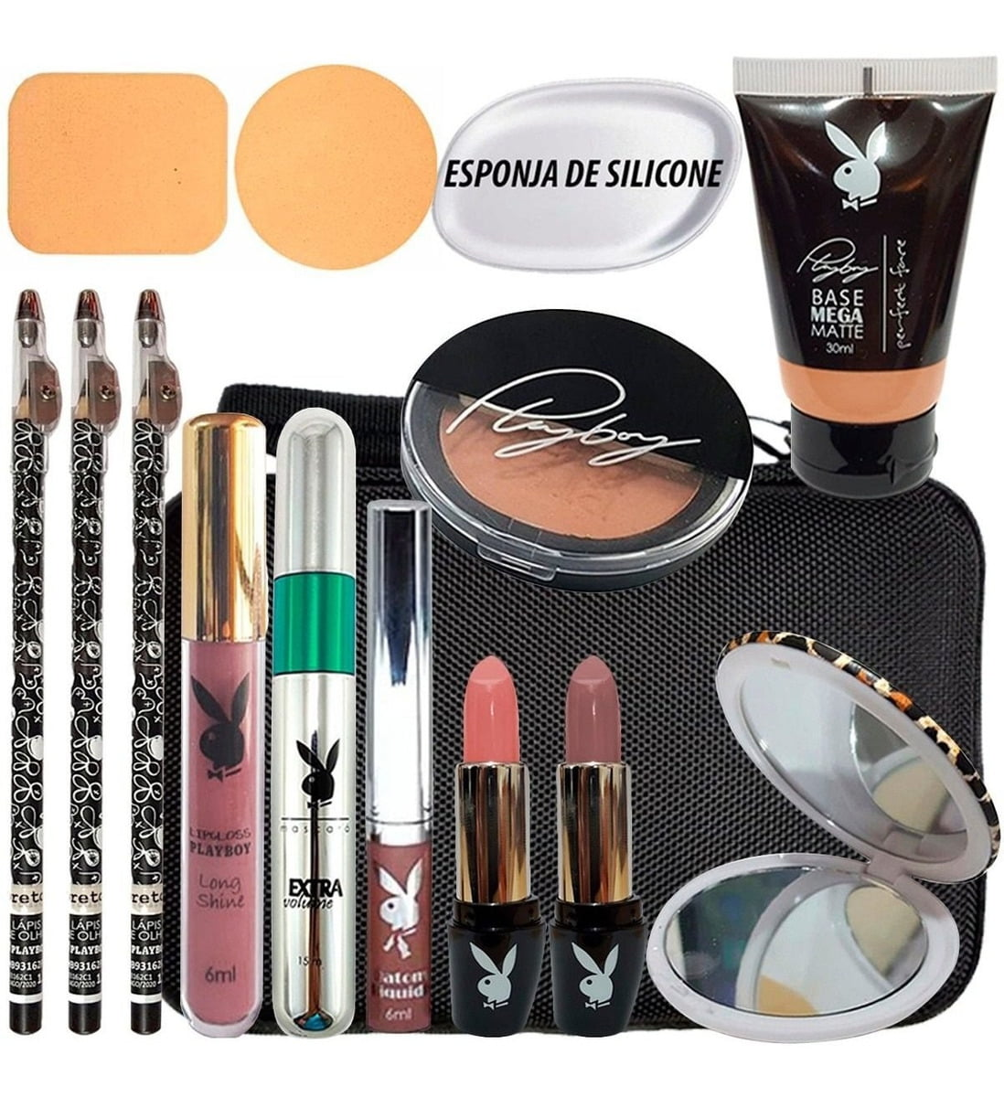 Kit Make Playboy Completo + Necessaire