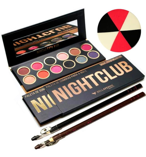 Kit Paleta Sombra Night Club Premium Collection Bella Femme