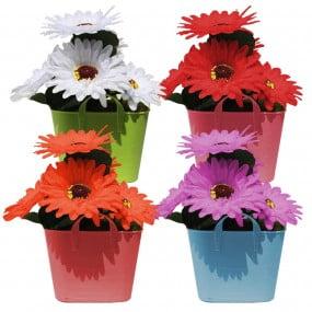 Arranjo De Flores Artificiais Vaso Margarida