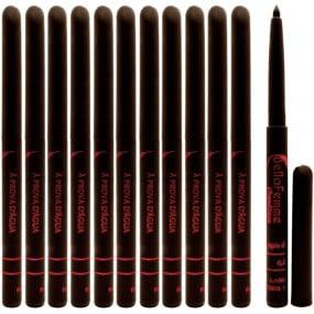 12 Lápis de Sobrancelha Retrátil Delineador Marrom (DarkBrown) Bella Femme A prova dágua
