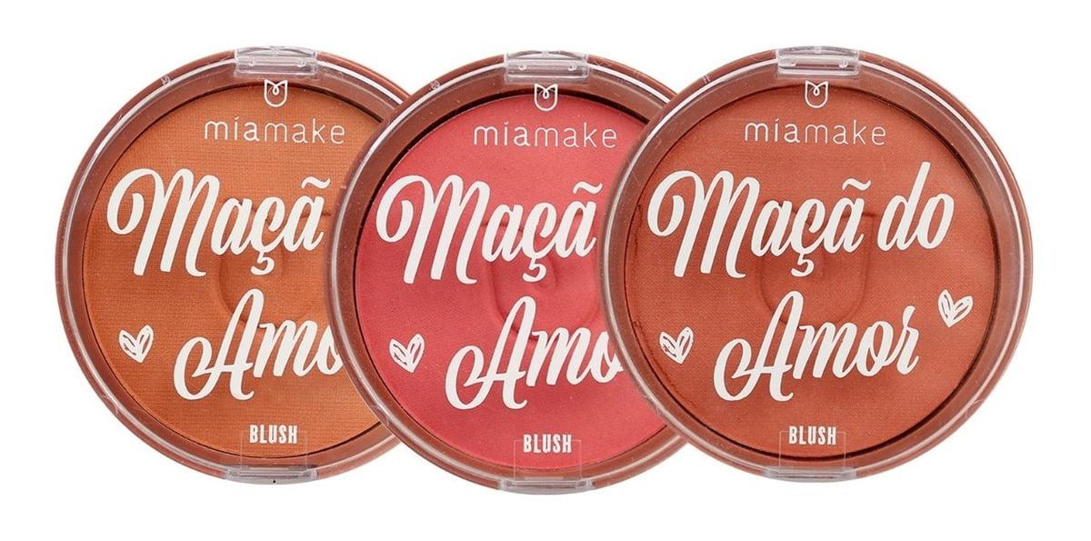 3 Blush Maçã Do Amor Mia Make Textura Ultrafina Toque Sedoso