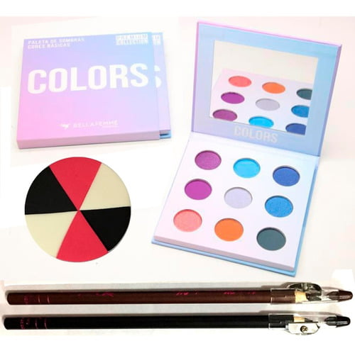 Kit Paleta De Sombra Colors Premium Collection Bella Femme