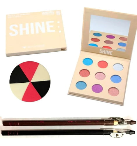 Kit Paleta De Sombra Shine Premium Collection Bella Femme