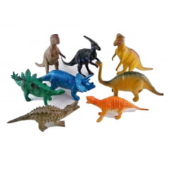 Brinquedo Animal Miniatura Dinossauro Borracha