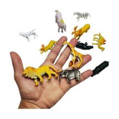 Brinquedo Animal Safari Savana Kit 30 Un Borracha Sortidos.