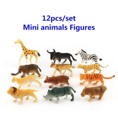 Brinquedo Animal Safari Savana Kit 30 Un Borracha Sortidos.