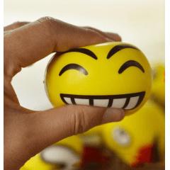 Kit Com 12 Bola Emoji Emoticons Massageadora Anti-stress