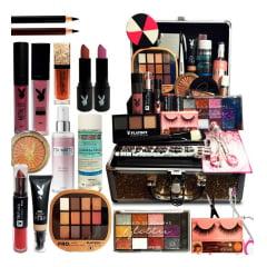 Kit Maquiagem Maleta Completo Presente Natal Black Friday