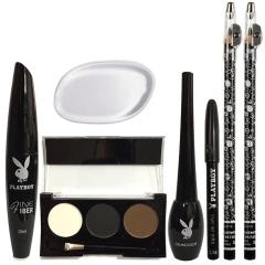 Kit Maquiagem Playboy Makeup Delineador Rímel Sombra Lápis