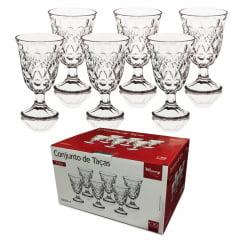 Conjunto Com 6 Taças De Vidro Para Água Vinho Sorvete 226 Ml