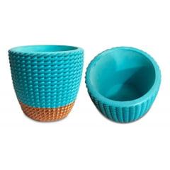 4 Vaso Cerâmica Decorativo Para Planta Suculenta 7x7,5cm