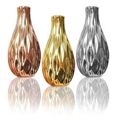 Kit Com 3 Vaso Decorativo Porcelana Para Decoração 11x3cm