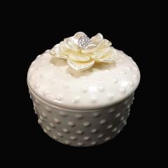 Porta joia de porcelana minimalista armazenamento de jóias 4,5 x 8,5 cm