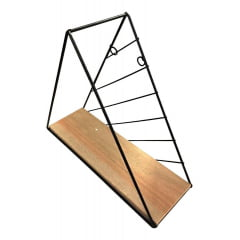 Prateleira Decorativa Triângulo Com Vaso Planta Suculenta