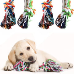 Corda Mordedor Dental Pet Brinquedo Para Cães Cores Sortidas