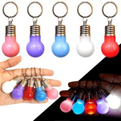 Kit 10 Chaveiro Mini Lampada Led Colorida Brinde Lembrança