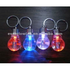 Kit Com 12 Chaveiros Mini Lampada Lanterna Led Luz Colorida Lembrança