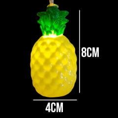 Luminária Cordão Fio De Luz Led 10 Abacaxi 1,90m