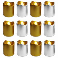 Kit 12 Velas Led Decorativas Dourada Baterias Inclusas