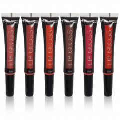 6 Un Lip Gloss Brilho Labial Com Aplicador Bella Femme