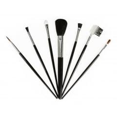 3 Kit Compacto Estojo 07 Pincéis Sombra Blush De Maquiagem