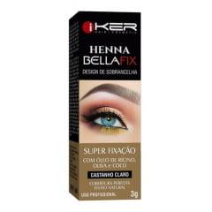 Henna Bela Fix Design Sobrancelhas 3g Iker Profissional