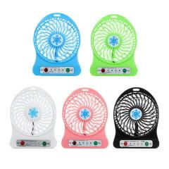 Ventilador Recarregável Usb Portátil 3 Velocidades Mini Fan