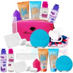 Kit Limpeza De Pele Facial Com Esponja Elétrica Massageadora