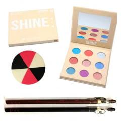 Kit Paleta De Sombra Shine Premium Collection Bella Femme
