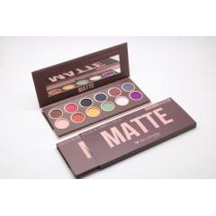 Kit Paleta Sombra Fosca Matte Premium Collection Bella Femme