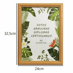 10 Moldura Quadro Certificado Diploma Gravuras A4 24x32,5cm