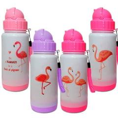 3 Squeeze Garrafa Térmica Flamingo C/ Bico Retrátil 330ml