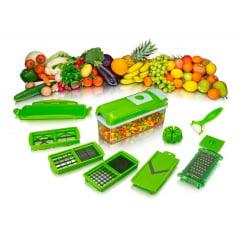 Nicer Dicer Plus 1ª Linha Cortador Fatiador Legumes Verduras