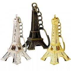 12 Chaveiro Torre Eiffel França Paris Metal Decoração Festa