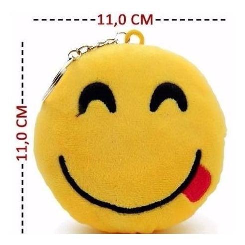 12 Chaveiros Emoji Emoticon Plush Whatsapp Atacado 11cm X 11