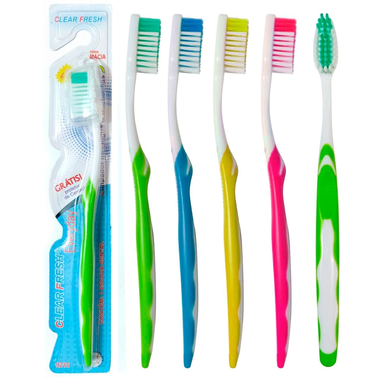36 Escova De Dente Adulto Protetor Revenda Atacado 4 Cores